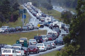Bruce Highway Congestion (Image courtesy SCRC).