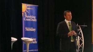 David Rumbens presenting at the SC BizExpo